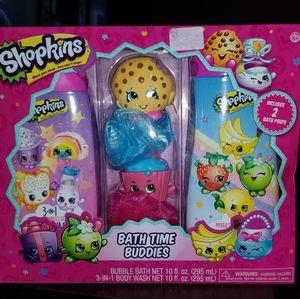 Shopkins Bath Time Buddies bubble bath set